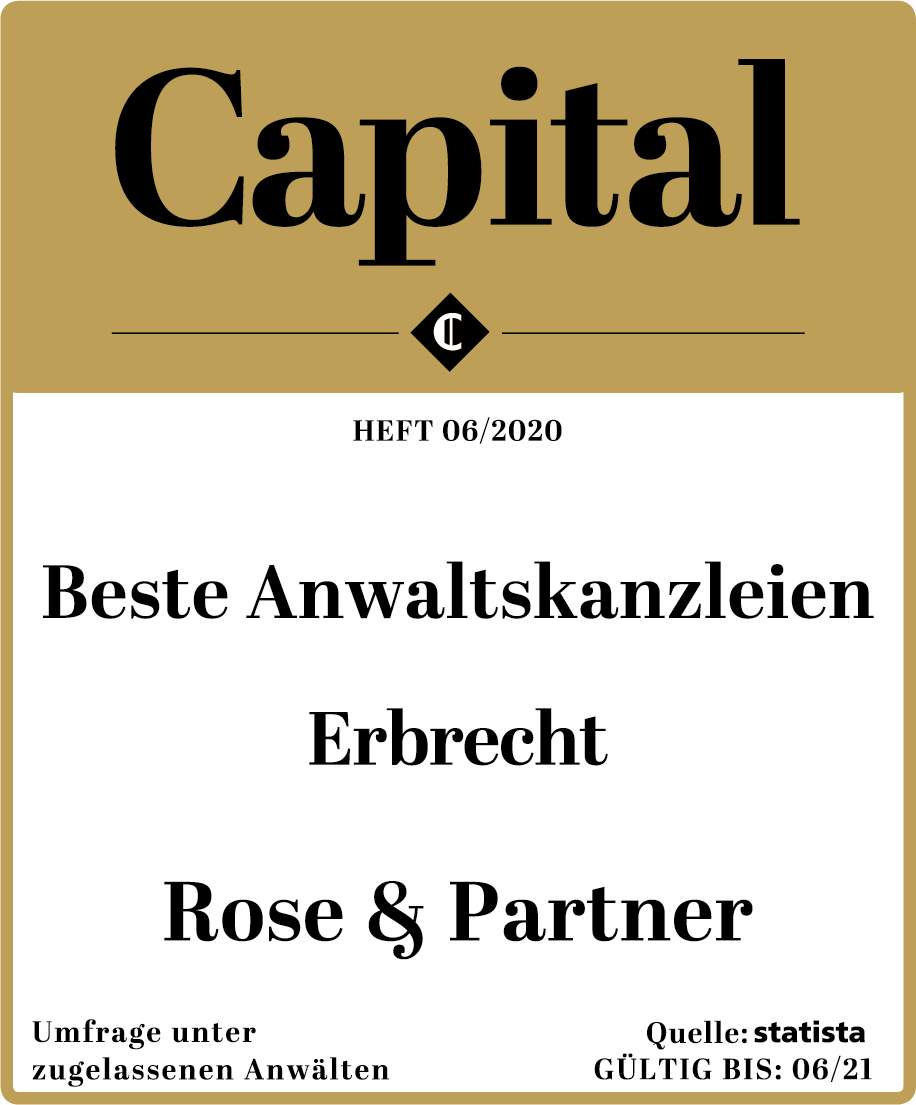 Beste Anwaltskanzleien Erbrecht – ROSE & PARTNER